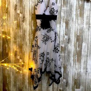 TABOO short halter cocktail dress